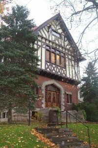 Morgan Opera House is a beautiful tudor revival located in Aurora, New York.