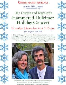 Duggan Hammered Dulcimer Holiday Concert Poster