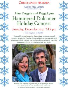 Dan Duggan and Peggy Lynn Hammered Dulcimer Holiday Concert